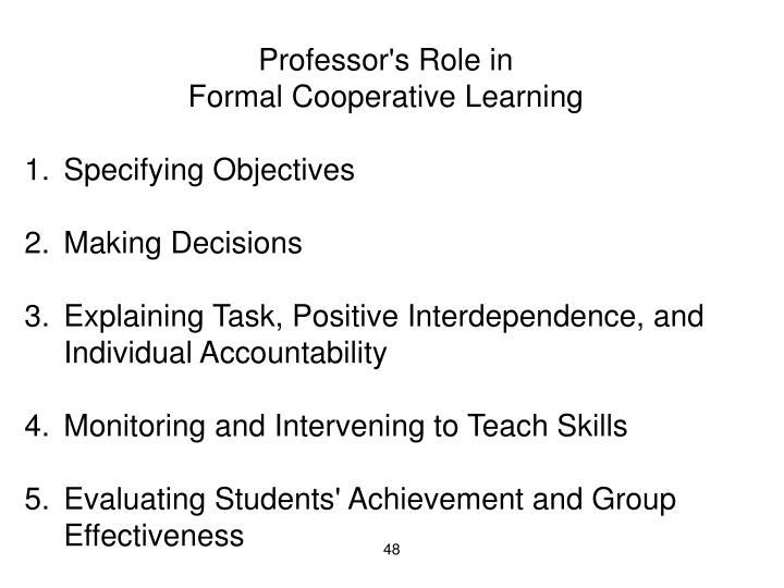 Professor's Role in