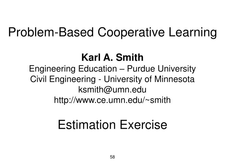 Problem-Based Cooperative Learning