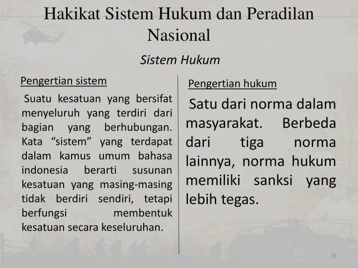 Hakikat Sistem Hukum dan Peradilan