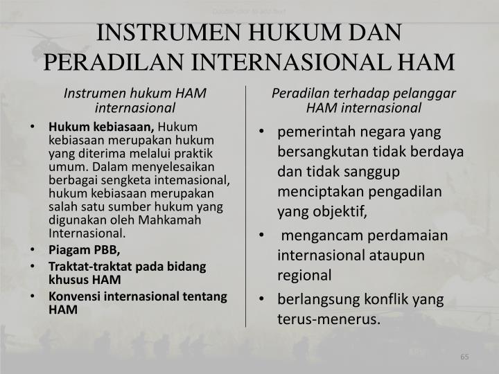 INSTRUMEN HUKUM DAN PERADILAN INTERNASIONAL HAM