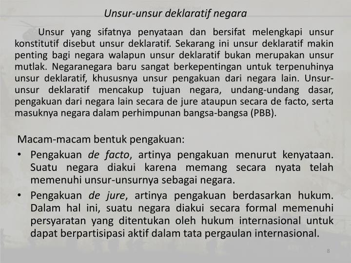 Unsur-unsur deklaratif negara
