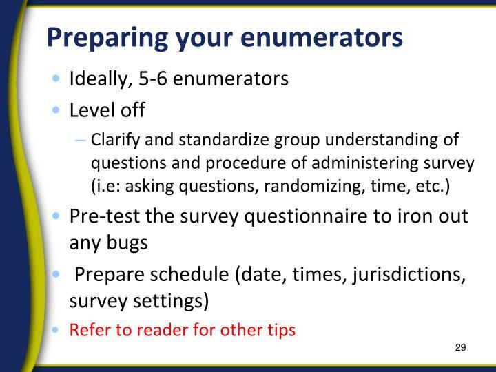 Preparing your enumerators