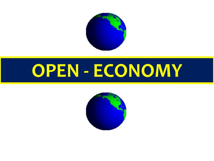 the open economy The main difference between an open economy and a closed economy is that in an open economy, the total value of its consumption may be different from the total value of its gdp.