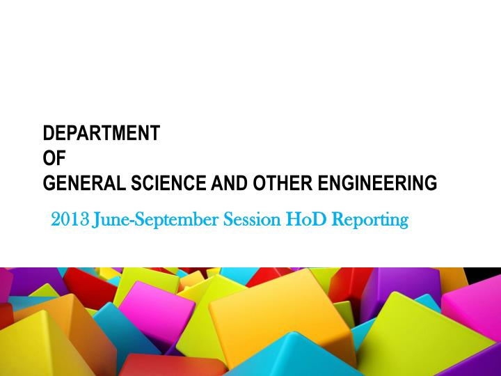 Department of general science and other engineering