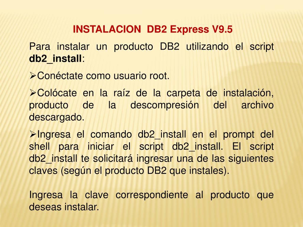 PPT - DB2 UNIVERSAL DATABASE PowerPoint Presentation - ID