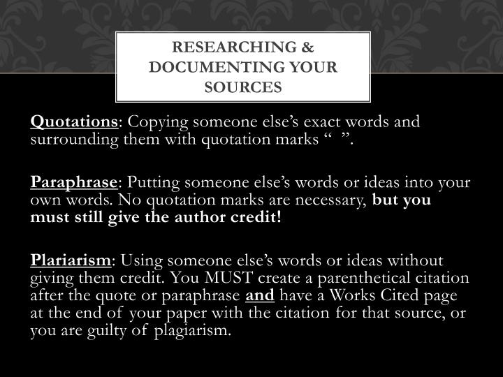 researching documenting your sources