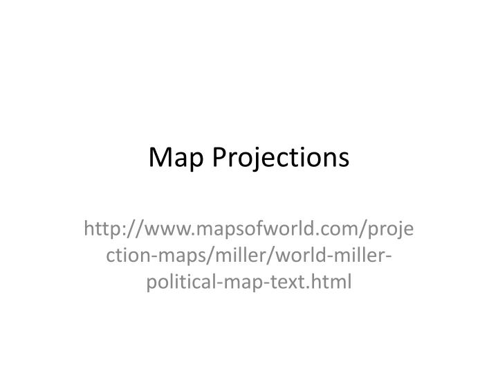 map projections n.