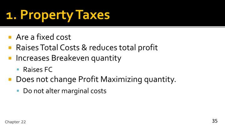 1. Property Taxes