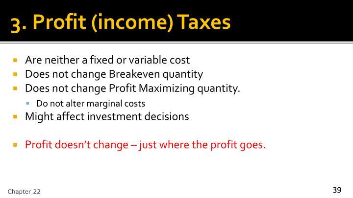 3. Profit (income) Taxes