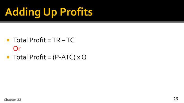 Adding Up Profits
