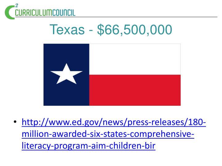 Texas 66 500 000