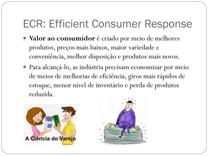 Ecr efficient consumer response