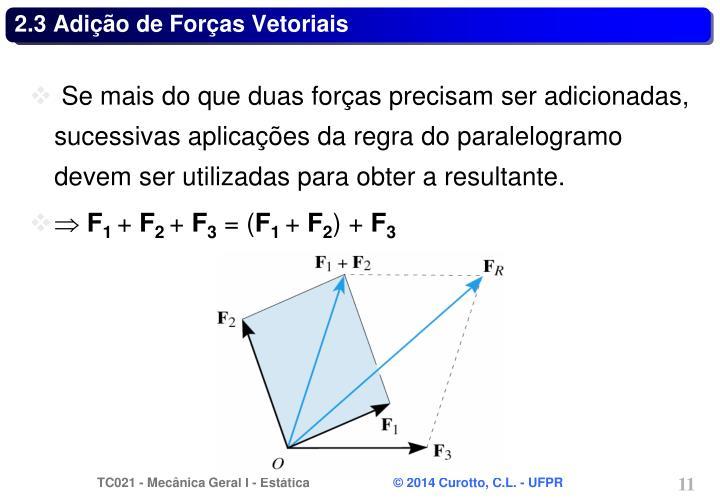 2.3 Adição de Forças Vetoriais