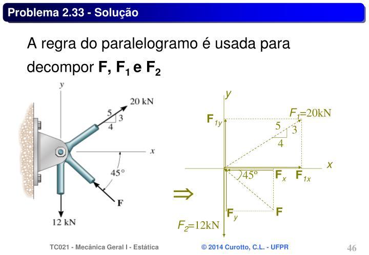 Problema 2.33 - Solução