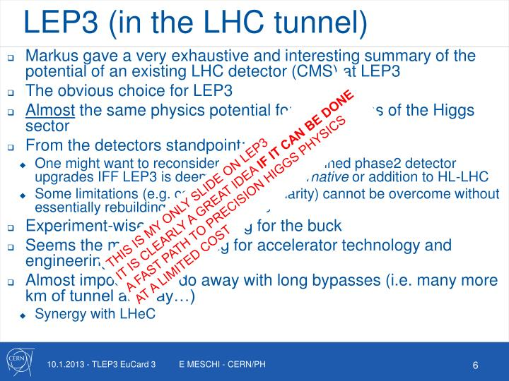 LEP3 (in the LHC tunnel)