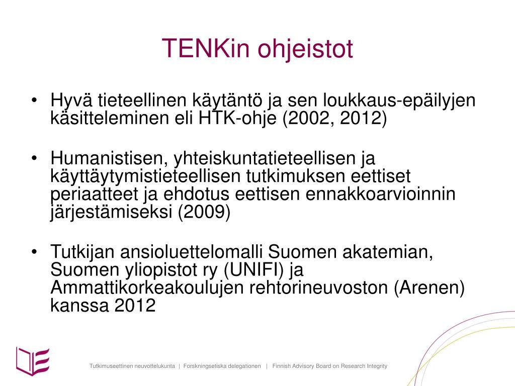 Hyvä Tieteellinen Käytäntö Ja Sen Loukkausepäilyjen Käsitteleminen Suomessa