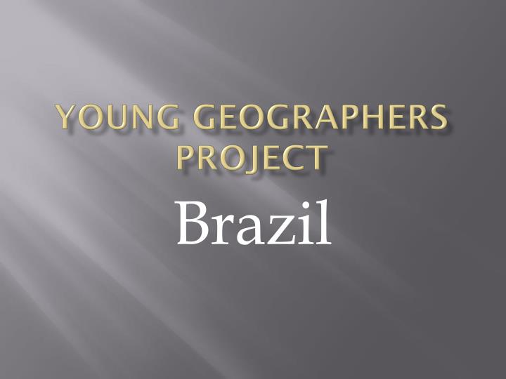 young geographers project n.