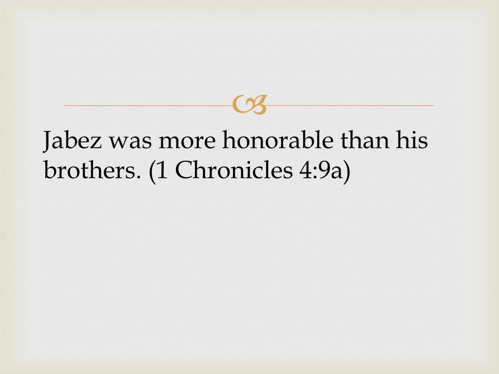 PPT - Prayer of Jabez : A Prayer of More PowerPoint