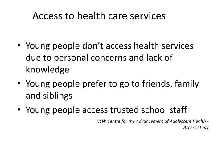 access to health care services n.