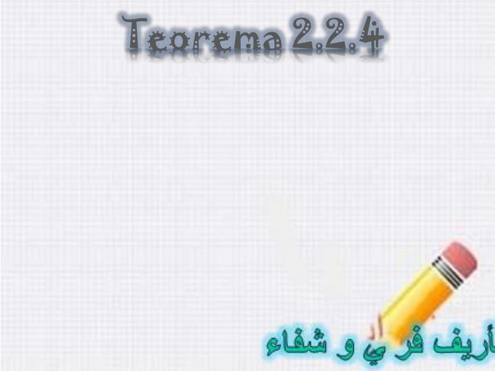 Teorema 2.2.4