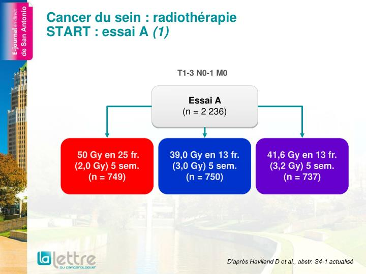 cancer du sein radioth rapie start essai a 1 n.