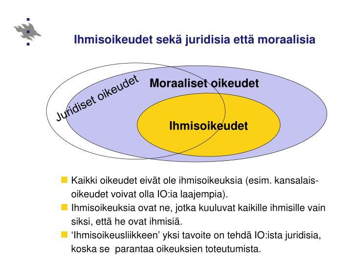 Ihmisoikeudet sek juridisia ett moraalisia