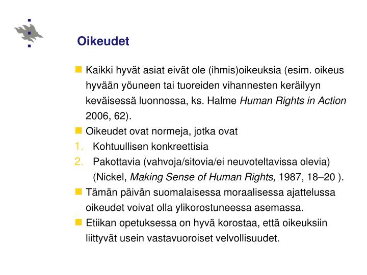 Oikeudet