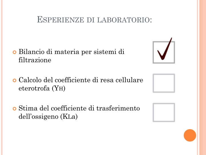 Esperienze di laboratorio