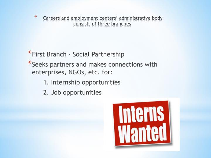 First Branch - Social Partnership