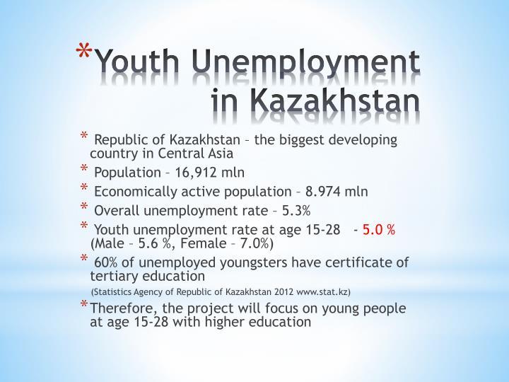Youth unemployment in kazakhstan