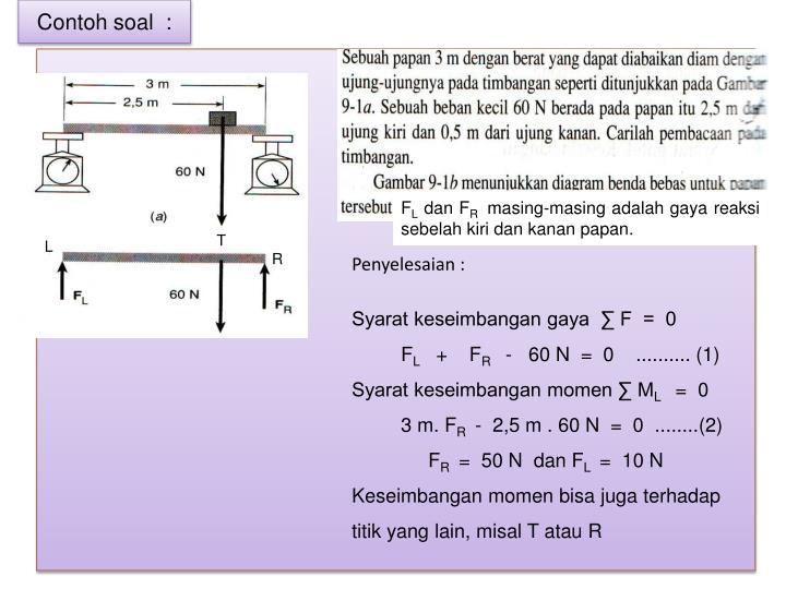 Ppt 1 statika dan keseimbangan benda tegar powerpoint fl dan fr masing masingadalahgayareaksisebelahkiridankananpapan ccuart Gallery