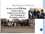 high school outreach