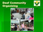 deaf community organizing