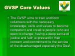 gvsp core values