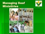 managing deaf ministiries