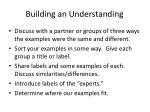building an understanding