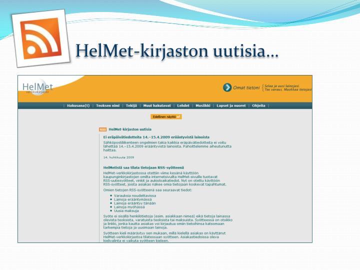 HelMet-kirjaston
