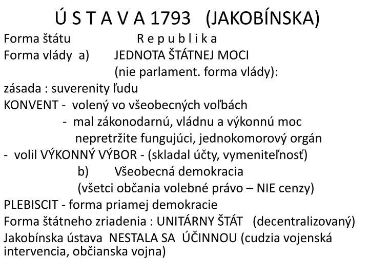 Ú ST AVA1793   (JAKOBÍNSKA)