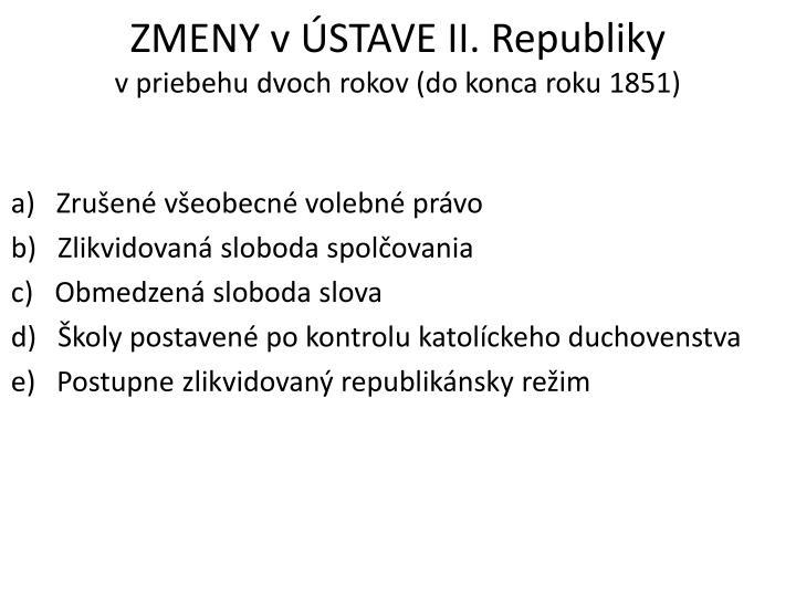 ZMENY vÚSTAVE II.