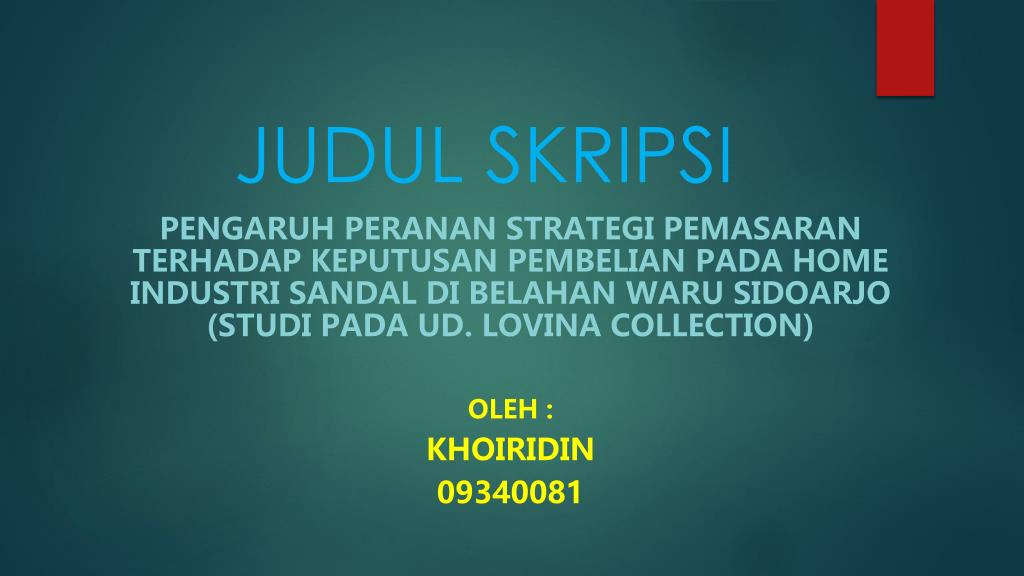 Ppt Judul Skripsi Powerpoint Presentation Free Download Id