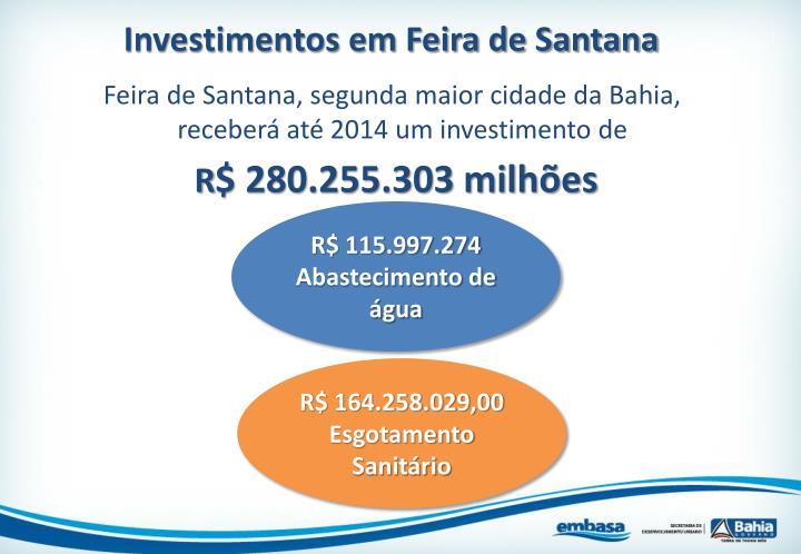 Investimentos em Feira de Santana