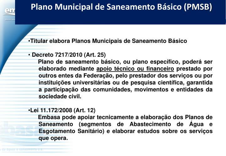 Plano Municipal de Saneamento Básico (