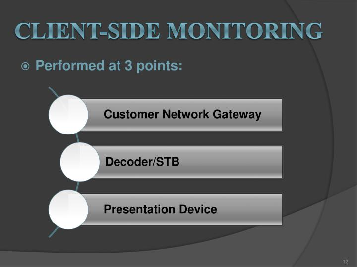 Client-side monitoring