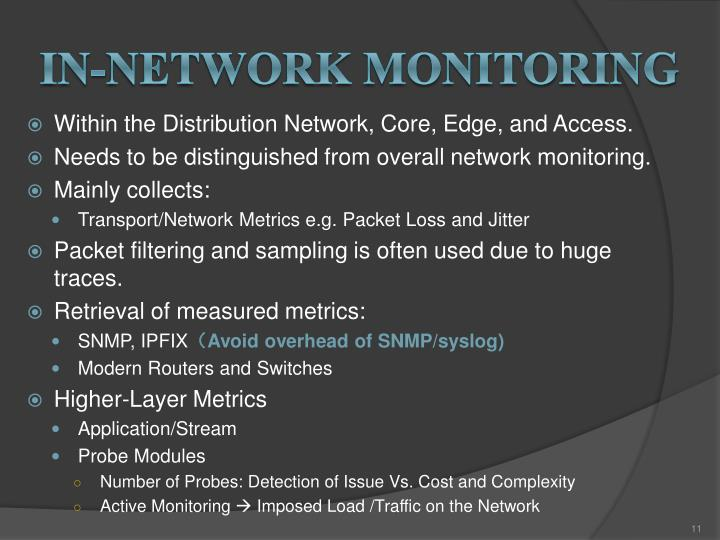 In-network monitoring