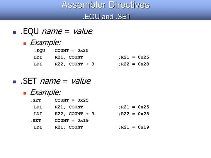 Assembler Directives