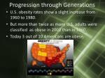 progression through generations