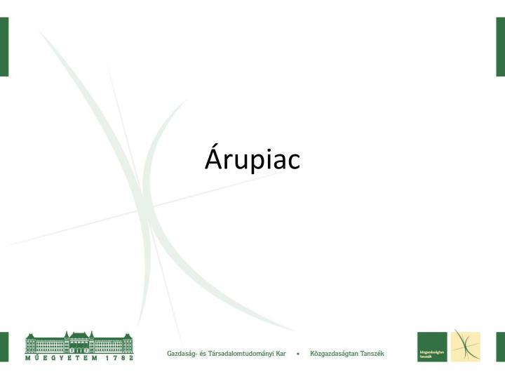 Árupiac