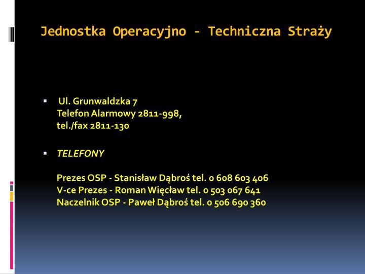 Jednostka Operacyjno - Techniczna Straży