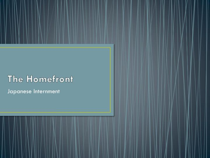 the homefront n.