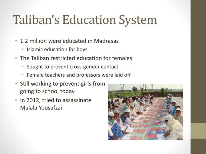 Taliban s education system